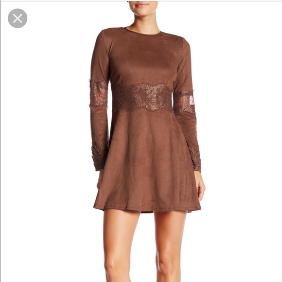 c44df9e1db969 Romeo & Juliet Couture Dresses | Faux Suede Brown Bohemian Dress ...